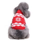 Christmas Snowflake Pet Dog Cat Jesień Winter Swetry Warm Pullover Hoodie Costume