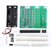 SSY Components + PCB Board + 2 Battery Boxes 84 SMD Component Welding Practice Training Board