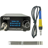 KSGER T12 STM32 V3.1S Schweißlötstation OLED DIY Kunststoffgriff Elektrowerkzeuge Schnellheizung T12 Eisenspitzen 8s Dosen 907 9501 Griff mit 3 Stk. T12 Spitzen