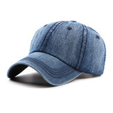 Mens Washed Cotton Cowboy Baseball Cap Casual Sunscreen Hat Adjustable
