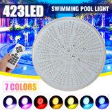 LED piscine lumière 423leds AC / DC12V RGB résine remplacement PAR56 lampe étanche IP68 multi couleur 2 m fil sous-marin lumières