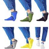 Ein Paar Herren Cotton Socken Fünf Finger Sport im Freien arbeiten Baumwolle Farben