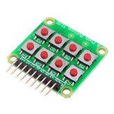 Micro Switch 2x4 Matrix Клавиатура 8 бит Клавиатура Внешний модуль платы расширения Клавиатура Geekcreit для Arduino - продукты, которые работают с официальн