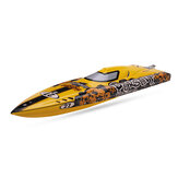 TFL 1106 Pursuit Fiberglass 82cm Brushless RC Boat Anti-Capsize 120A ESC without Servo Transmitter Battery Charger