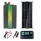 220V Solar Power System 30W Solar Panel Battery Charger 1000W Inverter USB Kit Complete 10/40/50/60A Controller 220V Home Grid Camping