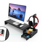 Suporte multifuncional para monitor Suporte para laptop com 4 portas USB Suporte para fone de ouvido Suporte para organizador de mesa para armazenamento Caixa