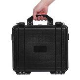 黒防水ハードプラスチックキャリーケースバッグツール収納ボックスポータブルオーガナイザー