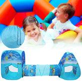 3 Adet Çocuk Oyun Çadırı ile Tünel Katlanır Tarama Tünel Playhouse Kapalı Outdoor Bahçe