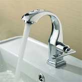 Chrome Finish Single Lever Home Bathroom Basin Faucet Spout Sink Cold Water Tap