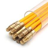10 Adet 1 M x 3mm Fiberglas Kablo Çektirme Koşu Kablosu Tel Kit Koaksiyel Elektrik Kablosu Takmadan Rod