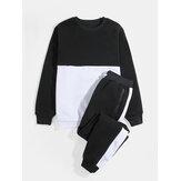 Sweat-shirts à manches longues pour hommes avec cordon de serrage Pantalon de jogging à poches multiples Costumes de sport
