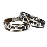 Multistrato Infinity Braccialetto a nodo Casual Fashion Leather