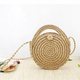 Women Straw Canteen Light Crossbody Bag Phone Bag Beach Bags