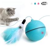 Yooap Creatief kattenspeelgoed Interactieve automatische rollende bal voor honden Smart LED Flash Kattenspeelgoed Elektronische hondenspeelgoed