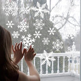 Christmas Snowflake Wall Stickers Removable PVC Static Sticker Room Wall Decals for Home Office Glass Decoration
