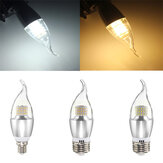 E14 E12 E27 7W 60 SMD 3014 LED Beyaz Sıcak Beyaz Cam Mum Lamba Ampul Ayarlanabilir Olmayan AC 85-265V