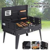 17.32x10.24x8.66inch BBQ Grill Fornello pieghevole a carbone Accessori per barbecue campeggio Picnic Travel