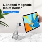 Bakeey Магнитная адсорбционная стойка для планшета, держатель для телефона из алюминиевого сплава, настольная подставка для прямой трансляц