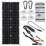 18V 300W Semi-flexible panneau solaire double USB DC chargeur Kit de charge pour bateau RV voiture