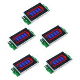 5 pièces 1S-8S Unique 3.7 V Lithium Batterie Module indicateur de capacité 4.2 V affichage bleu véhicule électrique Batterie testeur de puissance Li-ion