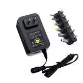 30W Adjustable 3/4.5/5/6/7.5/9/12V AC DC Power Adapter Universal Charger for LED Strip Light US Plug