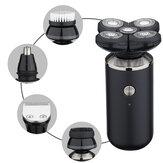 8 en 1 4D Rotary 5 tête lame rasoir électrique tondeuse multifonction barbe
