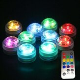 1X 10X remoto Control sommergibile LED Candle Tè Light RGB impermeabile Tavolo lampada Decorazione