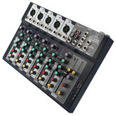 7 Channel Professional Stage Live Studio Mixer de áudio USB Mixing Console DJ KTV