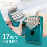 NAOMI 17 teclas Kalimba Piano de Polegar de Madeira Sólida Instrumento Portátil de Teclado de Mogno Piano de Dedo de Calimba Africano