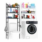 3 Tiers Over Toilet Rack Over Washing Machine Rack Kitchen Bathroom Storage Shelf Space Saving Organizer Bath Towels Shampoo Shower Gel Holder
