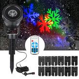 12 Desenleri LED Su Geçirmez Manzara Chrismas Halloween için Lazer Sahne Işık Projektör Hareketli