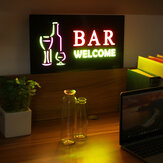 LED Hanging Sign Advertising Light Board Pub Club Party Door Window Display Lamp US Plug AC110-240V
