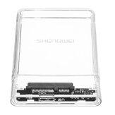 2,5 polegadas USB3.0 SATA SSD Unidade de disco rígido externo de estado sólido Mecânico Disco rígido Caixa Shell transparente para laptop desktop PC Shengwei ZST1001K
