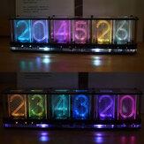 Atualização Geekcreit® Palavra em negrito imita brilho Relógio Tubo de brilho RGB colorido Relógio LED Kit Music Spectrum DS3231
