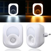 2W 23 LED Controlado por luz e PIR Sensor Night Light Plug-in Hallway Bedroom Home Emergency Lamp
