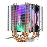 4Pin 4 Heatpipes Colorful Retroiluminado CPU Cooling Fan Cooler Dissipador De Calor Para Intel AMD