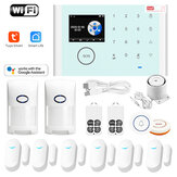 Tuya WIFI GSM Alarm System Smart Home Security  for Google Assistat