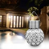 Zonne-hangende LED Plastic bal gloeilamp Colorful / Pure White Outdoor tuin Yard Path landschap Decor