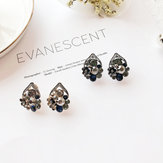 S925 Needle Vintage Earrings Antique Silver Stud Earring