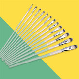 6/12PCS Watercolor Gouache Paint Brushes Set Different Shape Round Pointed Tip Nylon Hair Painting Brush Set Stationery Painting Art Supplies
