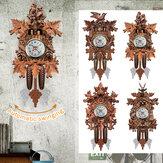 壁掛け時計カッコウ振り子時計アートクラフト家の装飾ぶら下げ木製時計