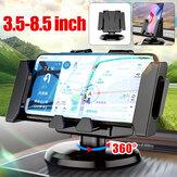 Suporte para painel vertical vertical multifuncional dobrável para carro Telefone celular GPS Suporte para dispositivos de 3,5 a 8,5 polegadas