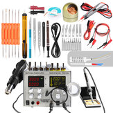 Handskit 9305D 4 in 1 Hot Air Rework Station + Soldering Iron Station + 30V 5A DC Power Supply
