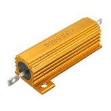 50W 0.5R 1R 2R 2.2R 4R 6R 8R 10R 20R Ohm Aluminium Shell Power Case Résistance bobinée
