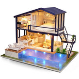DIY Doll House Handmade Electric LED Lighting Wooden Doll House Home Decoration Children Hand-On Practise Gift