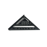 7 Inch English Triangle Ruler 17CM 30CM Metric Triangle Ruler Angle Protractor Metal Speed Square Measuring Ruler Metric English Ruler Carpenter Measuring Tools