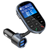 bluetooth 4.2 FM Wireless Radio Transmitter Adapter Dual USB Car Charger with Handsfree Calling A2DP Aux