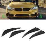 Real Carbon Fiber Side Fins Canards Автомобильные наклейки 4PCS для Mercedes-Benz / BMW / Audi / Lexus