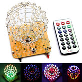 DIY Spherical Spectrum Light Cube LED Flash Kit Electronic Learning Kits