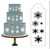 Snowflake Side Cake Stencil Border Designer Decoratie Craft Cookie Baking Tool